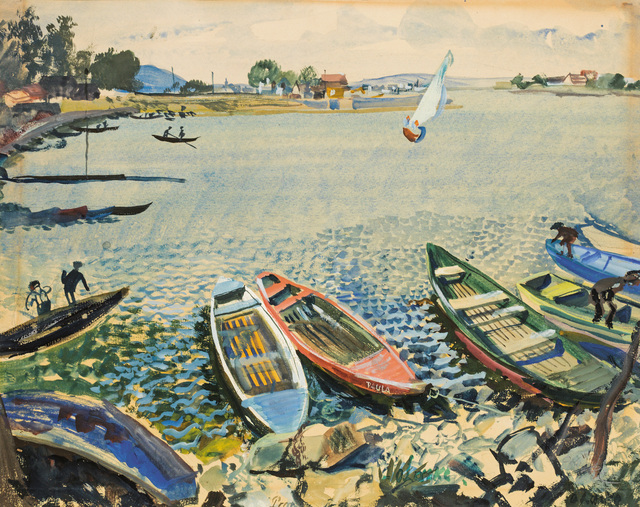 , 'The old Danube,' ca. 1930, Galerie Kovacek