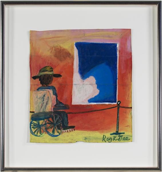 , 'Art Critic With 2.3 Billion Dollar Painting,' 1997, David Barnett Gallery