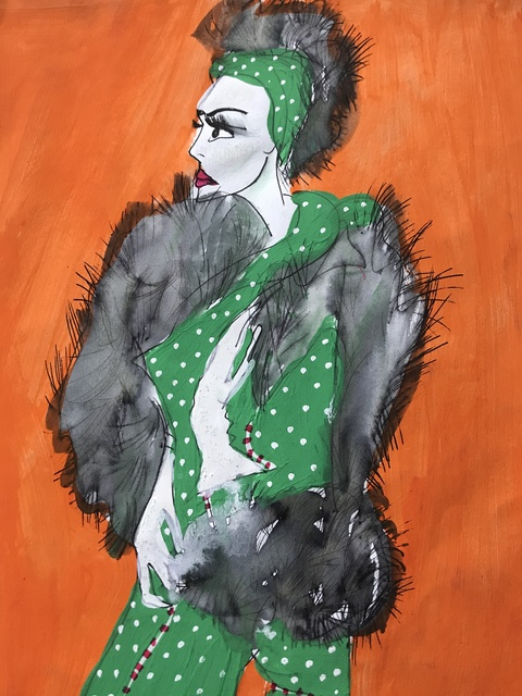 Louise Allen, 'Woman Ready to Go Out', 2021, Painting, Acrylic on canvas, Maggio Art Consultancy