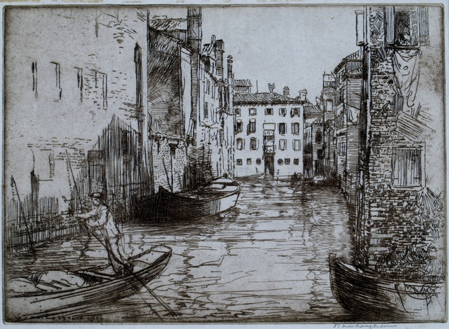 Donald Shaw MacLaughlan, 'Canal Life, Venice', 1926, Print, Etching, Private Collection, NY