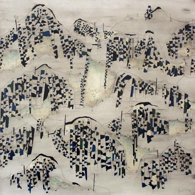 Manu vb Tintoré, 'Els colors d'aquella terra oblidada nº10', 2017, Painting, Enamel on engraving paper and colored pencil, N2 Galería