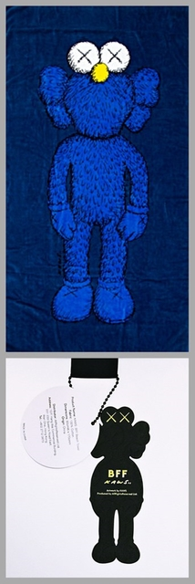 KAWS, 'BFF Limited Edition Oversized Beach Towel with tag', 2016, Textile Arts, Silkscreen on 100% Cotton Beach Towel, Alpha 137 Gallery Gallery Auction