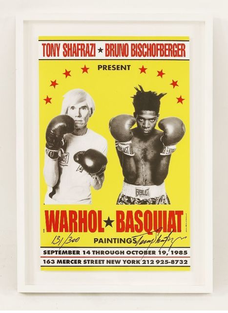 Andy Warhol, 'Poster For Warhol/Basquiat Paintings', 1985, Posters, Offset lithograph printed in colours, Sworders