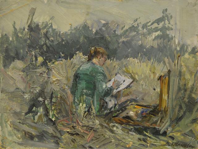 Valentina Vladimirovna Ivanova, 'Painting en plen air', 1968, Surikov Foundation