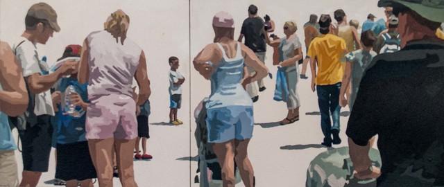 James Oliver (1972), 'Crowd (Composition #16)', George Billis Gallery