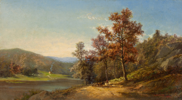 , 'On the Hudson,' 1867, Questroyal Fine Art