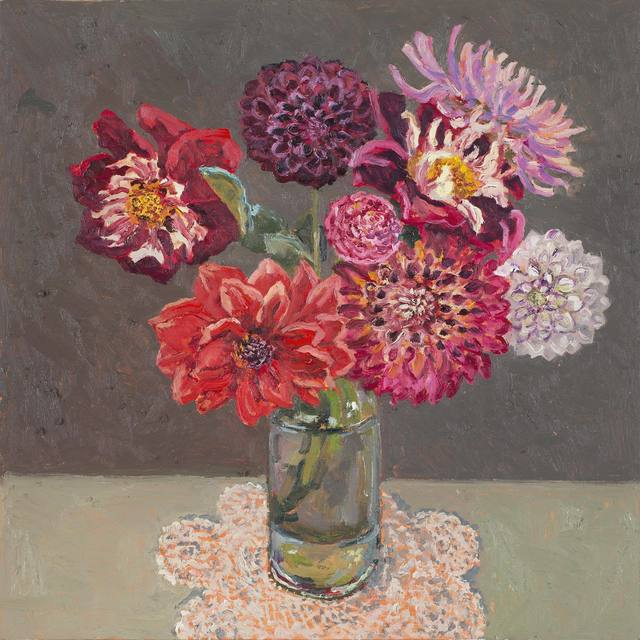 Lucy Culliton, 'Bunch of dahlias', 2018, Jan Murphy Gallery