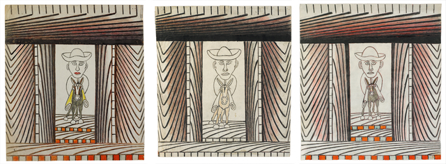 , 'Untitled (Man Riding Donkey, Triptych),' 1960-1963, Ricco/Maresca Gallery