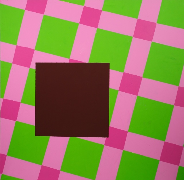 , 'The cherry square on the green-violet table-clothes,' 2014, narrative projects