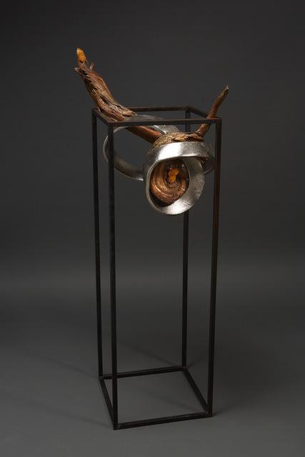 , ' Debra Baxter, Wind Knocked In, 2018, amethyst, bronze, mopany ,' 2018, form & concept