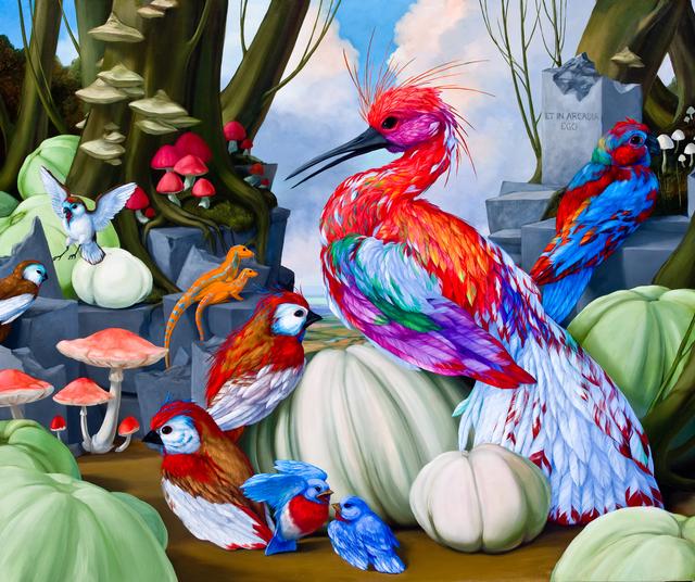 , 'Arcadian Habitat Diorama with Narcissus Glitter Fowl,' 2014, Koplin Del Rio