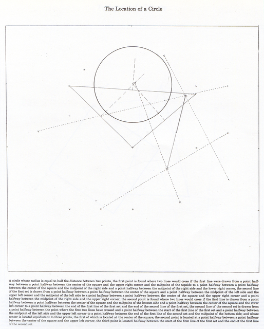 , 'The Location of a Circle,' 1974, Bernard Jacobson Gallery