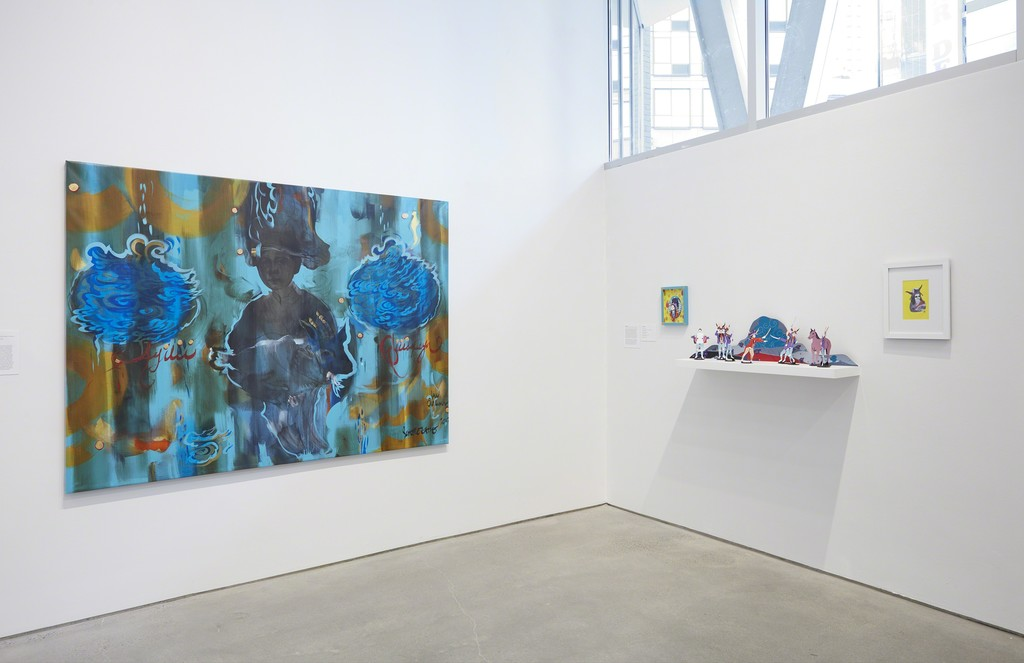 """Bordering the Imaginary"" Exhibition Installation Shot, photo by Jason Wyche"