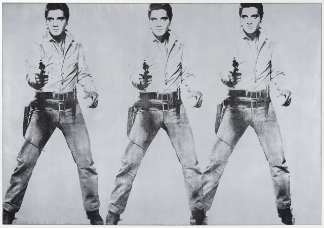 , 'Triple Elvis [Ferus type],' 1963, San Francisco Museum of Modern Art (SFMOMA)