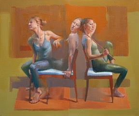 Cathy locke, 'Trio in Red', 2017, Gallery 104