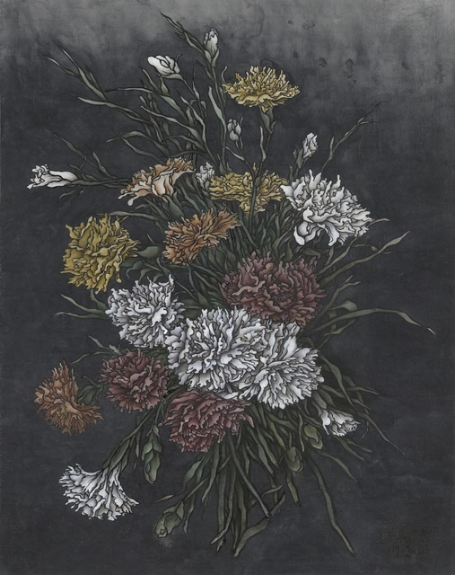 Yang Jiechang 杨诘苍, 'These are still Flowers 1913-2013 No. 3 ', 2013, Drawing, Collage or other Work on Paper, Ink and mineral pigments on silk, mounted on canvas, Ink Studio