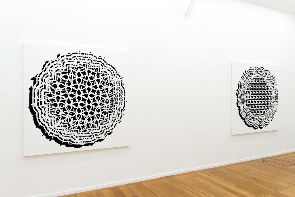 """Exhibition view, Pablo Siquier """"Bruit"""", Galerie Xippas, Paris, 2017 Photo: Frédéric Lanternier"""