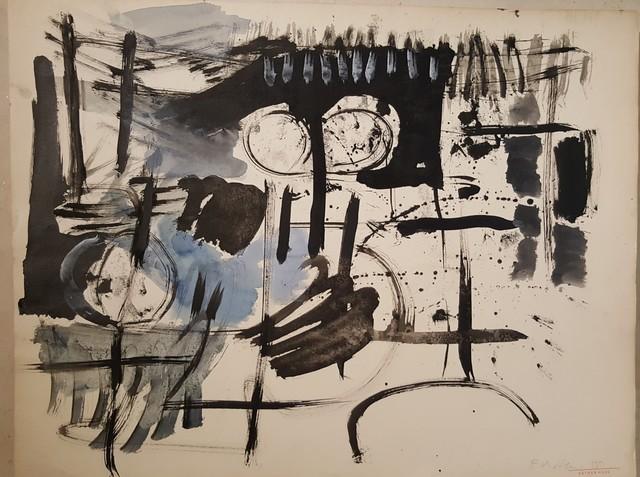 , 'dessin au pinceau 1,' 1955, Galerie Marie-Robin