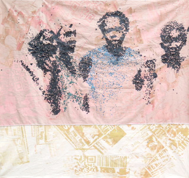Yeanzi, 'Révolution dit les (4) fantastiques', 2017, Galerie Cécile Fakhoury - Abidjan