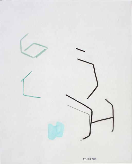 , 'SchwarzeundblaueBügel,' 2017, Galerie Heike Strelow
