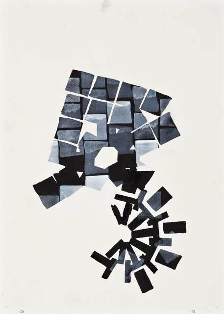 Chuck Holtzman, '887', 2013, Drawing, Collage or other Work on Paper, Ink and opaque watercolor on paper, Clark Gallery