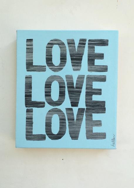 , 'Love Love Love (blue),' 2016, Heather Gaudio Fine Art