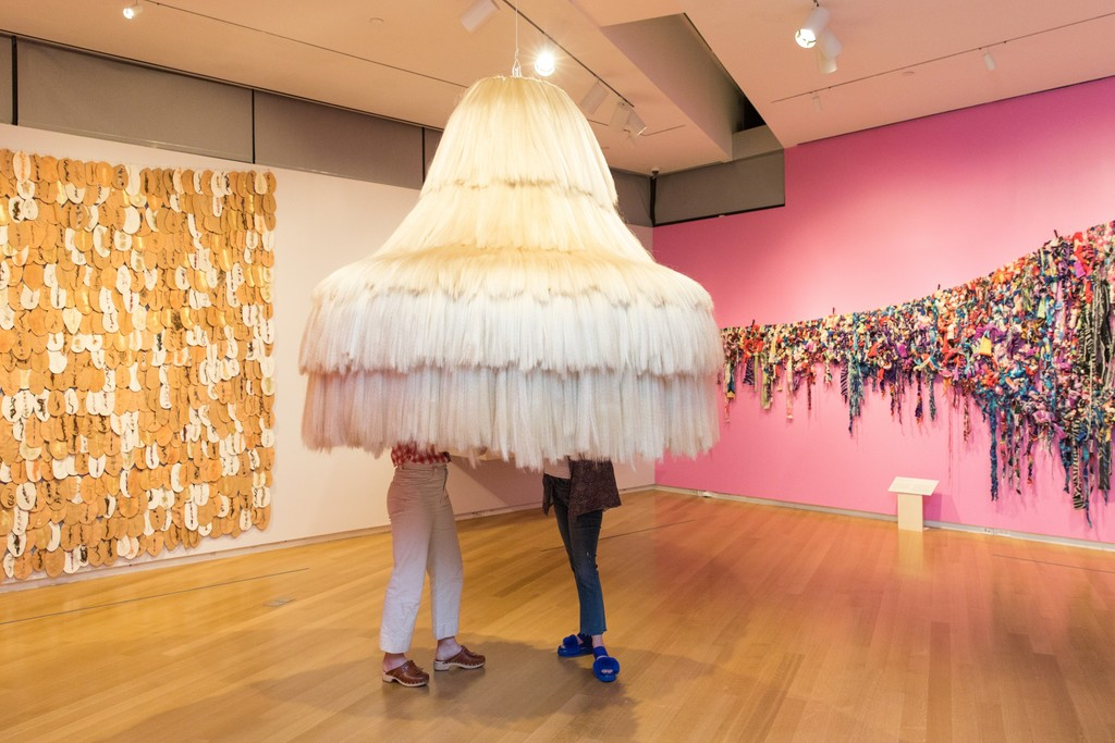 Installation view of 'Tanya  Aguiñiga: Craft & Care'