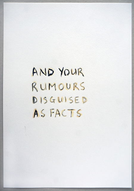, 'And Your Rumours (Double),' 2015, VITRINE