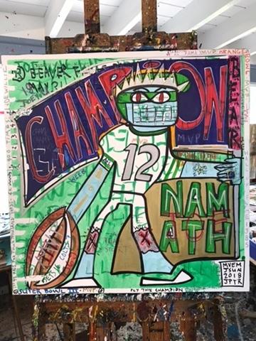 , 'Fly the Champion,' 2018, Joe Namath Foundation