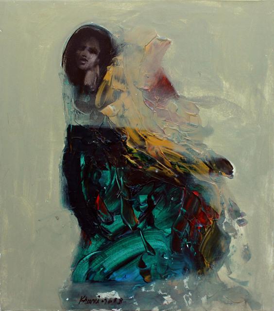 Khalid El-Khani, 'Blue & Black', 2018, Orient Gallery