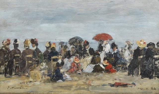 Eugène Boudin, 'Trouville, Scène de Plage', 1884, DICKINSON