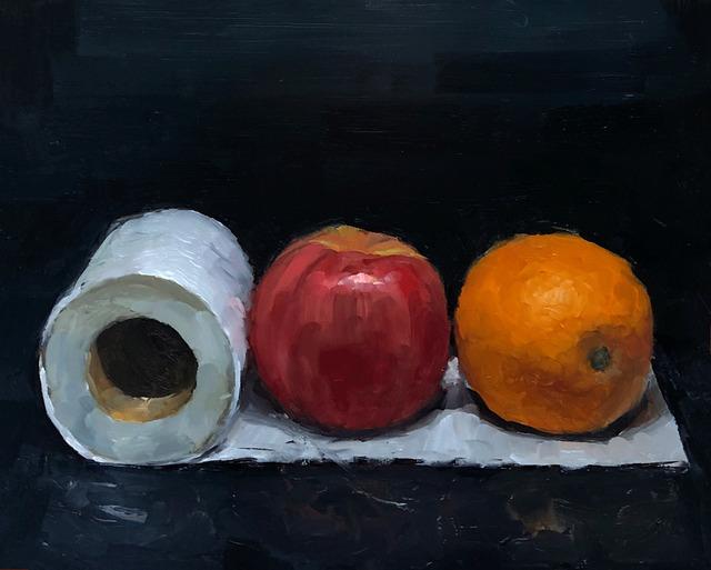 Tom Giesler, 'Health Study 16: supplies', 2020, Painting, Oil on panel, McVarish Gallery