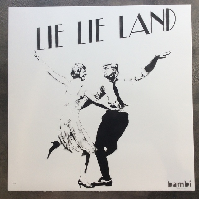 , 'Lie Lie Land (HAND CUT STENCIL AND SPRAY PAINT),' 2017, Joseph Fine Art LONDON