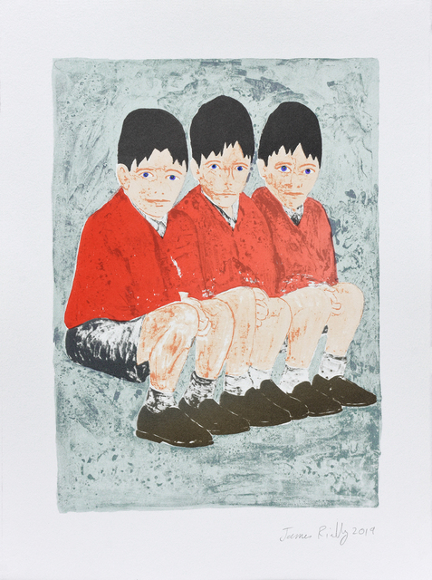 """, 'We are Three Brothers, From the Portfolio """"Who Loves the Sun"""" ,' 2019, Auckland Print Studio"""