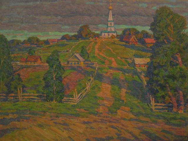 Boris Sergeevich Pushkov, 'The road to the church', 1995, Surikov Foundation