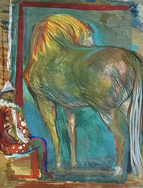 , 'Circus Performer and Horse,' 1935-1940, Lawrence Fine Art
