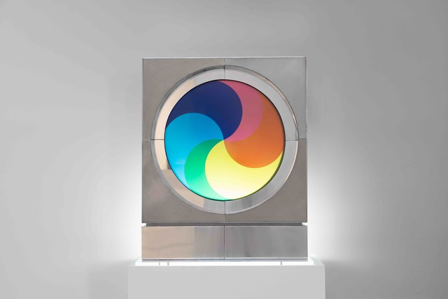 Fletcher Benton, 'Synchronetic Yin and Yang R', 1970, Sculpture, Stainless steel, Plexiglas, Yares Art