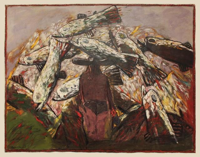 , 'FISHERMAN AND FISH,' 1992, Greg Kucera Gallery
