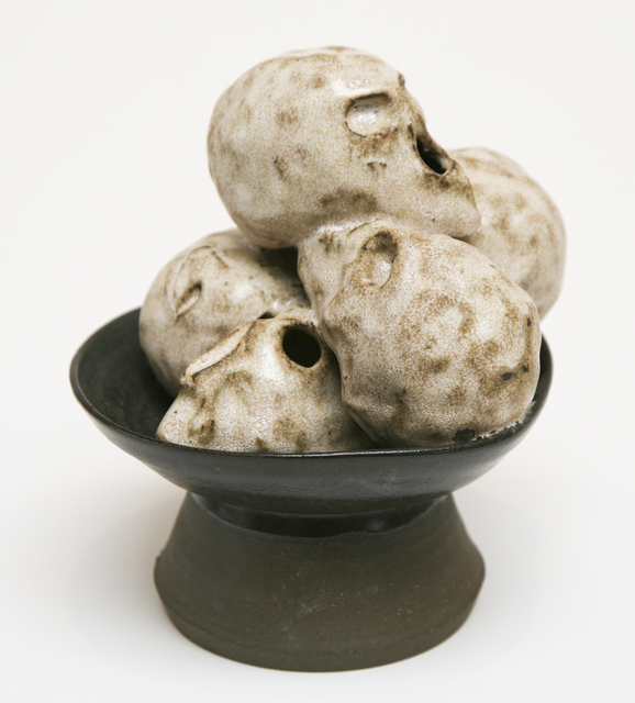 , 'Black Footed Bowl with Five Skulls,' 2014, David Richard Gallery