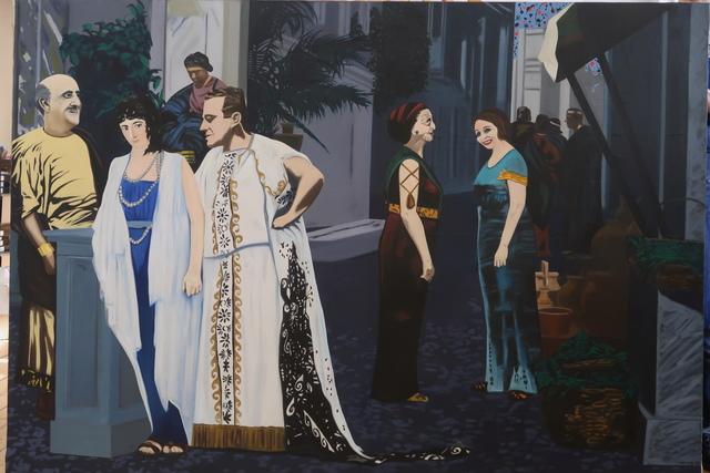 Eduardo Arroyo, 'Les derniers jours de Pompéi Madrid', 1965, Painting, Oil on canvas, Richard Taittinger Gallery
