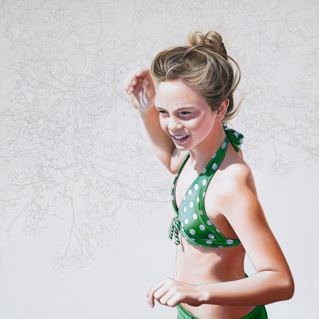 Mara Minuzzo, 'The In-between (Polka Dot Bikini Girl)', 2016, Painting, Acrylic on canvas, Lustre Contemporary