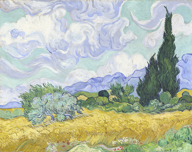 , 'Wheat Field with Cypresses,' early September 1889, National Gallery of Victoria