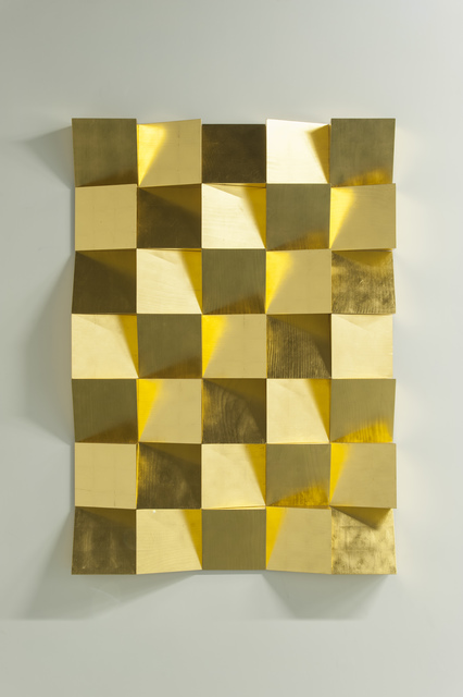 , 'Anechoic Wall feuille d'or,' 2016, Edouard Malingue Gallery