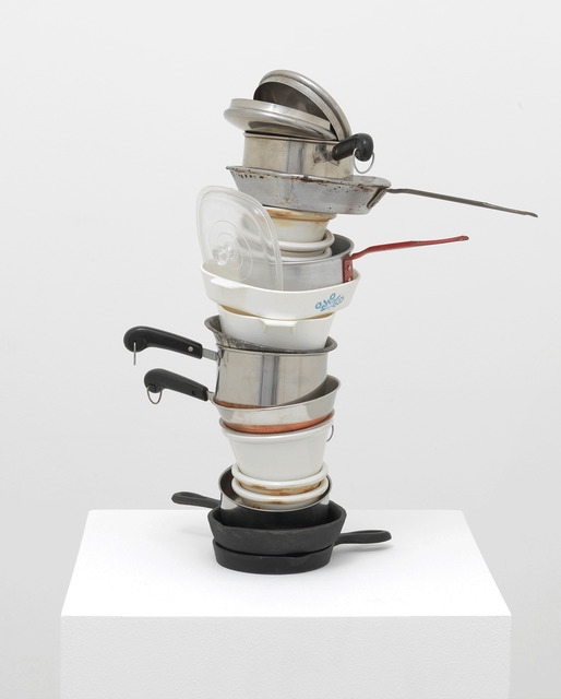 , 'No title (mini stacked pots and pans IV, crème brûlée),' 2005, Gagosian