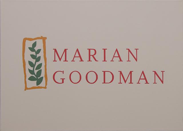 , 'Marian Goodman,' 2018, BWSMX