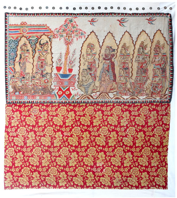 , 'Langse (curtain), Semara is Asked by the Gods to Awaken the Meditating Siwa,' Probably Kamasan, Bali, Indonesia, before 1940, Bard Graduate Center Gallery