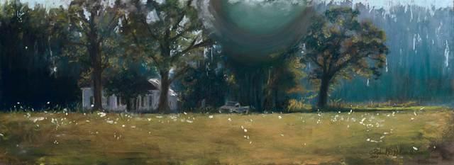Richard Wilson Jr., 'Indigo Shadow', 2018, Painting, Pastel, Gugsa Black Arts Collective