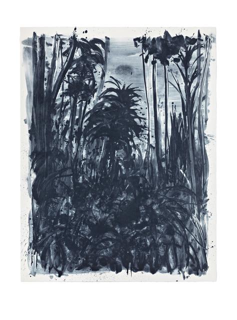 Shinro Ohtake, 'Indigo Forest 9', 2015, Print, Lithography on Saunders paper, STPI