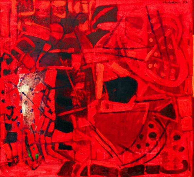 , 'Untitled II (Red Abstract),' 2007, The Noble Sage Collection