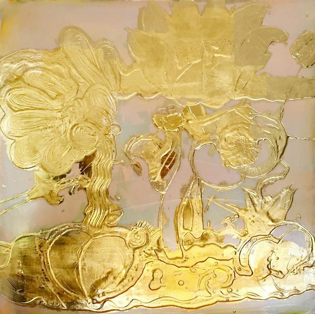 Catherine Howe, 'Opal Painting (gold)', 2018, Madelyn Jordon Fine Art